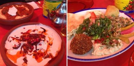 comptoir libanais lebanese food fattet mousakka - lübnan yemeği