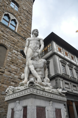 Bandinelli Hercules and Cacus, Florence, Firenze, Italy.JPG