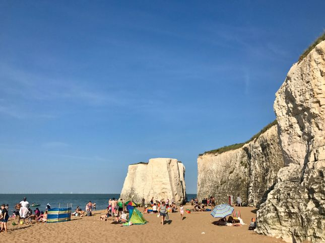 botany bay, broadstairs, isle of thanet, kent, uk, ingiltere