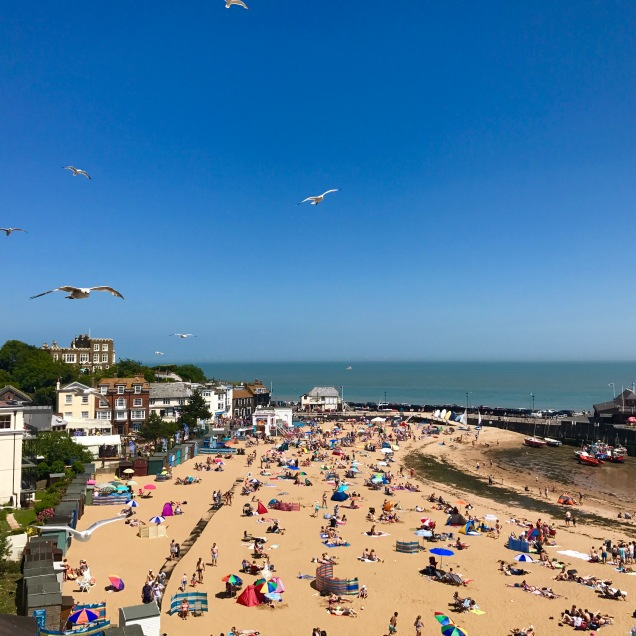 viking bay, broadstairs, isle of thanet, kent, uk, ingiltere