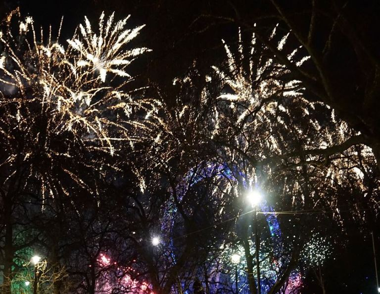 London NYE Fireworks from 8 Northumberland Avenue 02