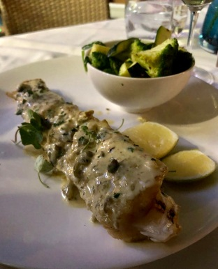 Kingklip fish at Zenzero, Camps Bay (Cape Town, Güney Afrika, South Africa)