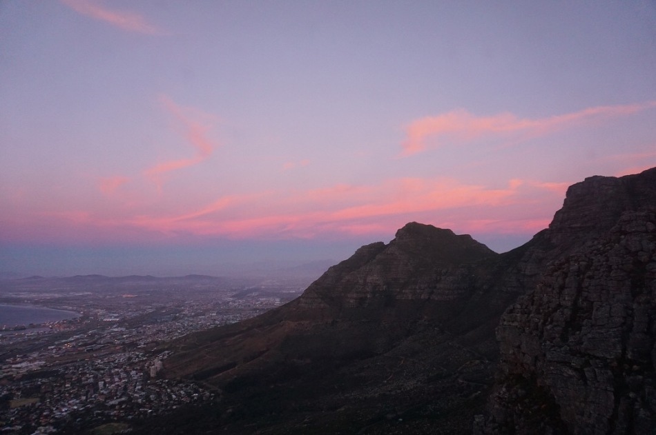 Table Mountain Sunset - Masa Dağı Günbatımı (Cape Town, Güney Afrika, South Africa)